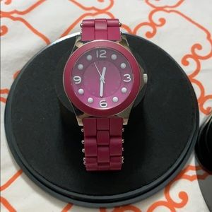 Marc by Marc Jacobs fuchsia pink watch metal